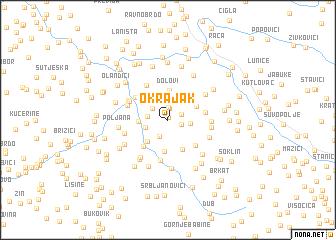 map of Okrajak