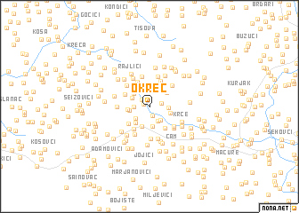 map of Okreč