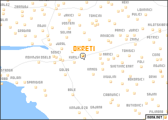 map of Okreti