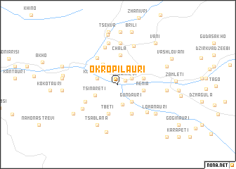 map of Ok'ropilauri
