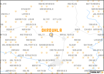 map of Okrouhlá