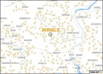 map of Okruglić