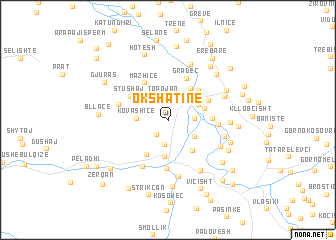 map of Okshatinë