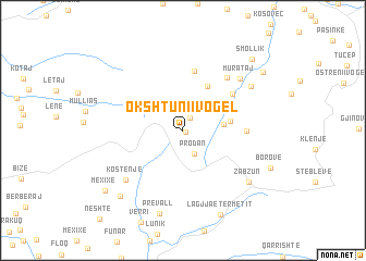 map of Okshtuni i Vogël