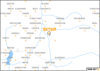 map of Oktwin