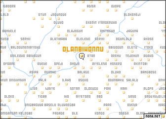 map of Olanbiwonnu
