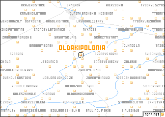 map of Ołdaki Polonia