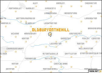 map of Oldbury on the Hill