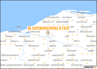 Oldenburg In Holstein Germany Map Nonanet - Oldenburg map