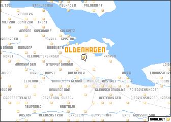 map of Oldenhagen