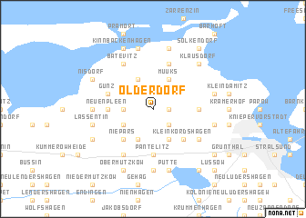 map of Olderdorf