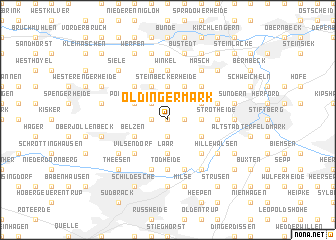 map of Oldinger Mark