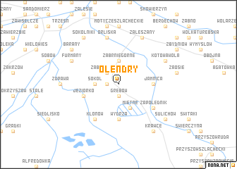 map of Olendry
