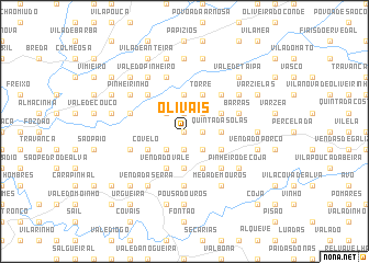 map of Olivais