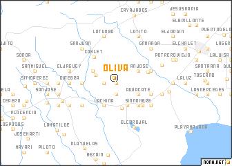 map of Oliva