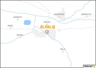 Olmaliq Uzbekistan Map Nonanet - Olmaliq map