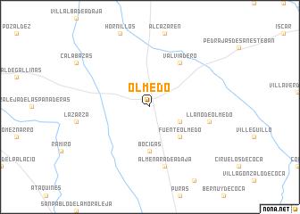 map of Olmedo