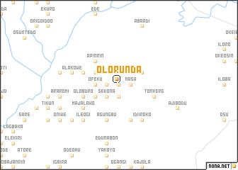 map of Olorunda