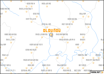 map of Olounou
