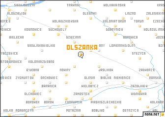 map of Olszanka