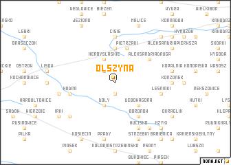 map of Olszyna