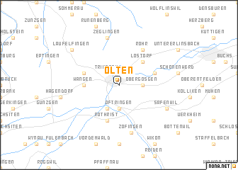 map of Olten