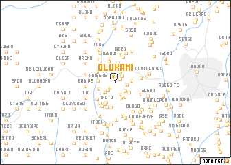 map of Olukami