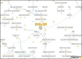map of Ómajor
