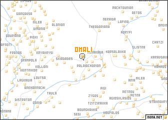map of Omalí