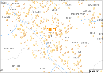 map of Omići
