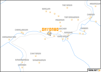 map of Ŏmyŏnbo