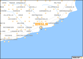 map of Oneglia