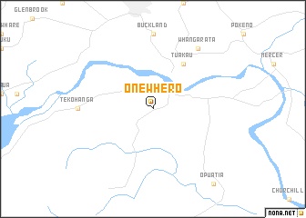 map of Onewhero