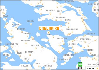 map of Onglavika