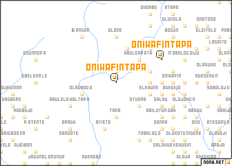 map of Oniwafin Tapa