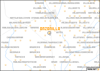 map of Onzonilla