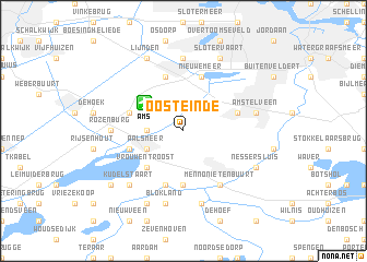 map of Oosteinde