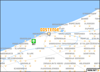 map of Oostende