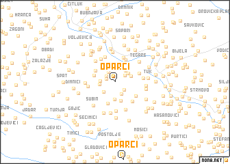 map of Oparci