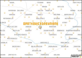 map of Opatkowice Drewniane