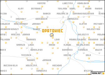 map of Opatowiec