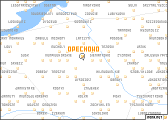 map of Opęchowo