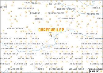 map of Oppenweiler