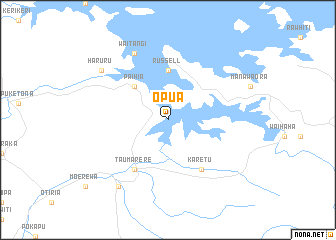 map of Opua