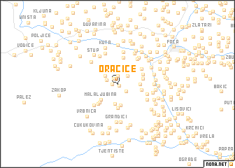 map of Oračice