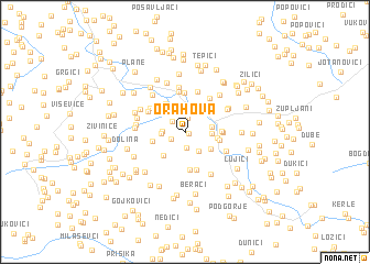 map of Orahova