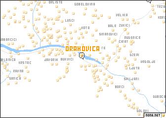 map of Orahovica