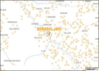 map of Orahovljani