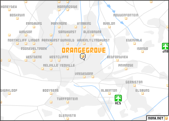 map of Orange Grove