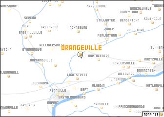 Orangeville United States USA map nonanet